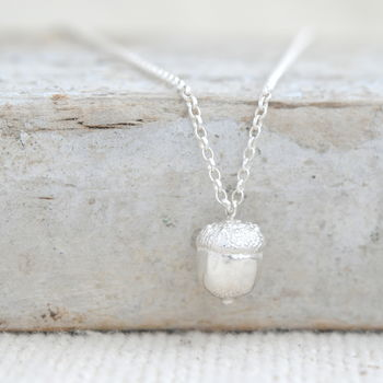 Acorn Necklace In Sterling Silver