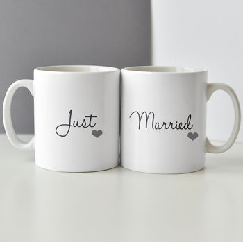 Just Married Personalised Mug Set