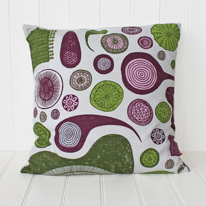 Protozoa Cushion Cover - new lines added