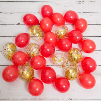 Pack Of 28 Christmas Confetti Mini Balloons