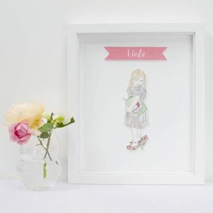 Personalised Child Portrait Illustration Print - new in prints & art