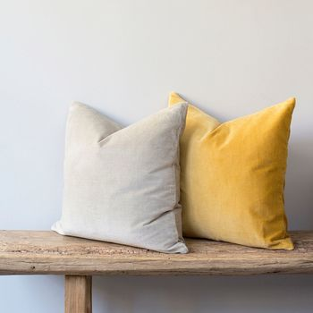 Velvet Cushion Available In Six Colours