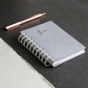 Personalised Real Concrete Cover Journal