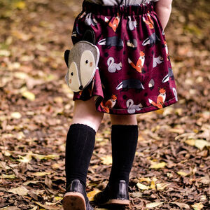 Girl's 'Woodland Animal' Print Skirt