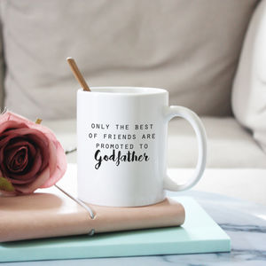 Promoted To Godfather Mug Gift - christening gifts
