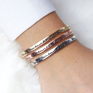 'Count Your Rainbows Not Your Thunderstorms' Bangle