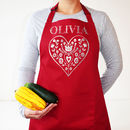 Personalised Nordic Heart Apron