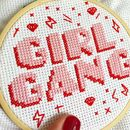 Girl Gang Cross Stitch Craft Kit