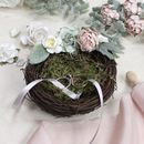 Rose And Peony Birds Nest Ring Holder