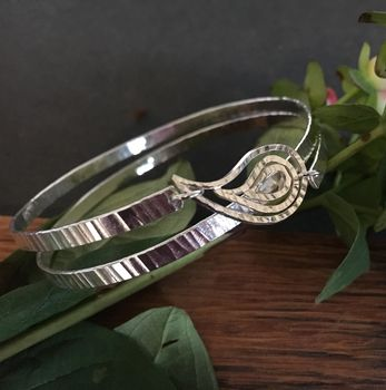 Hammered Paisley Bangle