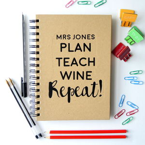 Personalised Thank You Teacher Notebook - notebooks & journals