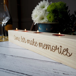 Personalised Wooden Candle Holder - christmas sale