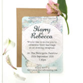 Travel Inspired Evening Wedding Invitation - styling your day