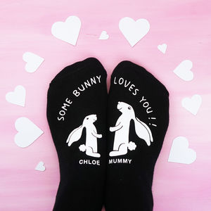 Personalised Some Bunny Loves You Socks - clothing