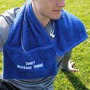 Personalised Zip Pocket Gym Towel