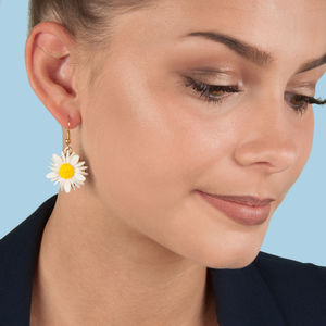 Daisy Single Dropper Earrings - earrings