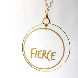 Large Fierce Gold Hoop Necklace