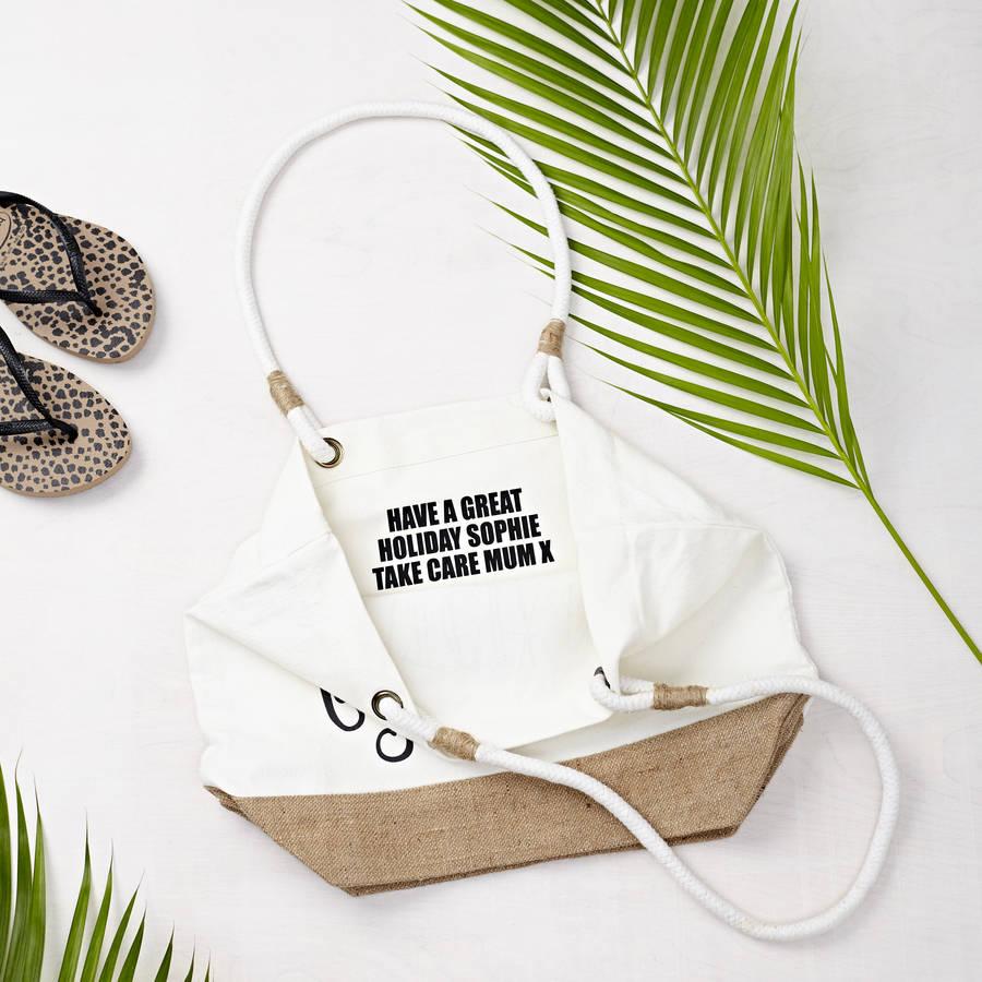 mermaid kisses' beach bag by tillyanna | notonthehighstreet.com