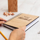 Personalised Wooden Sketchbook