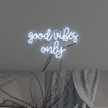 'Good Vibes Only' Handmade Neon Sign Wall Art