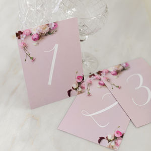 Table Numbers: Secret Garden Collection