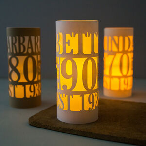 Personalised 90th Birthday Lantern Centrepiece