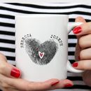 Fingerprint Heart Personalised Mug
