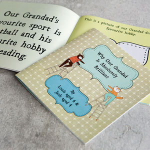 Personalised 'Why My Grandad Is Brilliant' Gift Book - gifts for babies & children sale