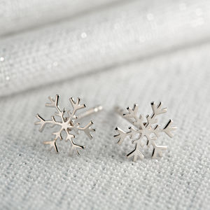 Silver Snowflake Stud Earrings - children's accessories