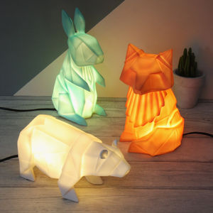 Origami Woodland Night Light - bedroom