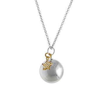 Pregnancy Necklace With Sparkling Gold Plated Star