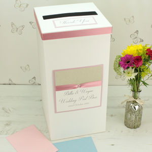 Personalised Luxury Wedding Post Box - styling your day sale