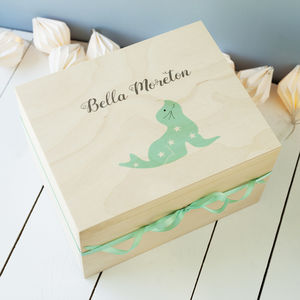 Childhood Memories Wooden Keepsake Box - children's room accessories