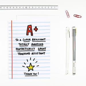 Teaching Assistant Card - thank you cards