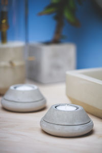 Taper Concrete Tealights - table decorations