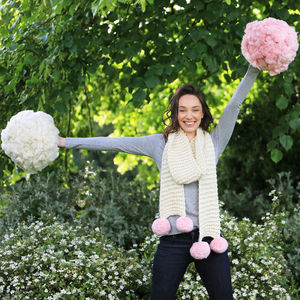 Diy Pompom Kitting Kit Chunky Scarf - sewing & knitting