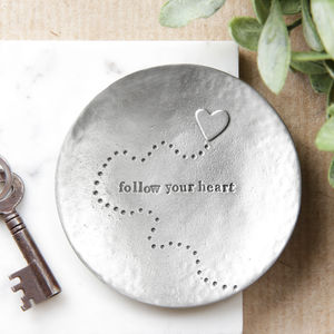 'Follow Your Heart' Trinket Dish - home accessories