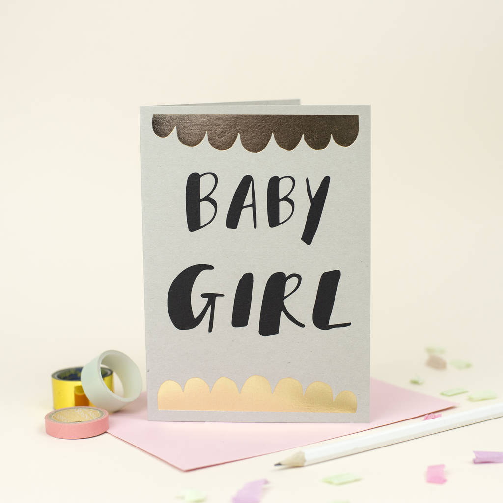 Baby girl greetings card by louise and lygo notonthehighstreet baby girl greetings card kristyandbryce Images