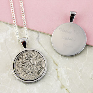 Sixpence 1967 50th Birthday Coin Necklace