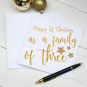 First Family Christmas Card - cards
