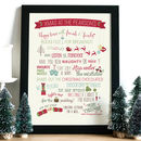 Family Christmas Print Gift Decor