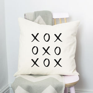 Hugs And Kisses Cushion - bedroom