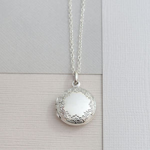 Sterling Silver Classic Round Locket - necklaces & pendants