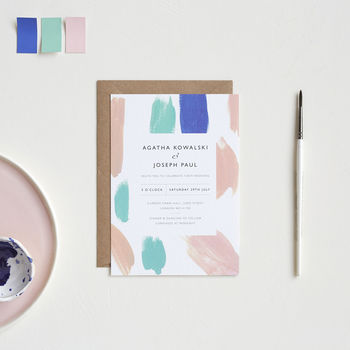 Paint Palette Wedding Invitations