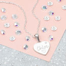 'My First Diamond ' Personalised Heart Necklace