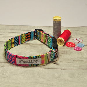 Multi Colour Dog Collar For Girl Or Boy Dogs