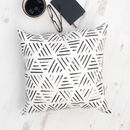 Monochrome Geometric Line Pattern Cushion