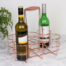 Industrial Copper Six Bottle Carrier