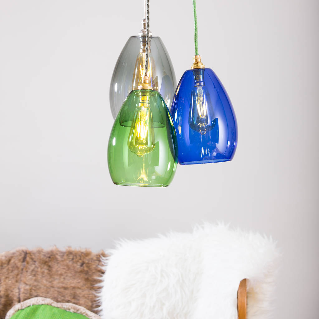 Bertie Coloured Glass Cluster Light   Ceiling Lights