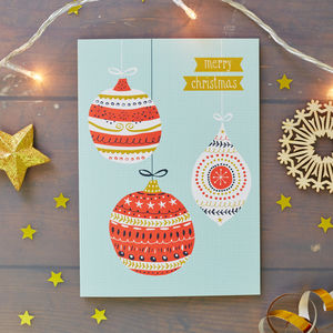 Baubles Christmas Card Pack